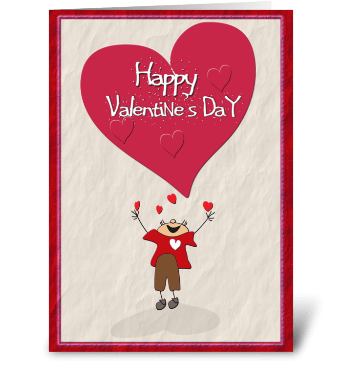 Happy Valentine's Day, Big Heart greeting card