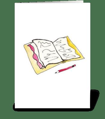 Pink Cottage Series: Take Note greeting card