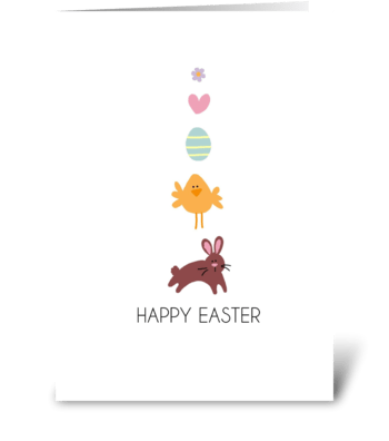Easter Line-Up greeting card