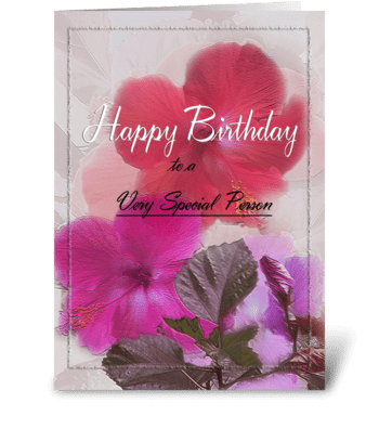 Happy Birthday to Special Person greeting card