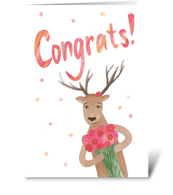 Congrats! greeting card