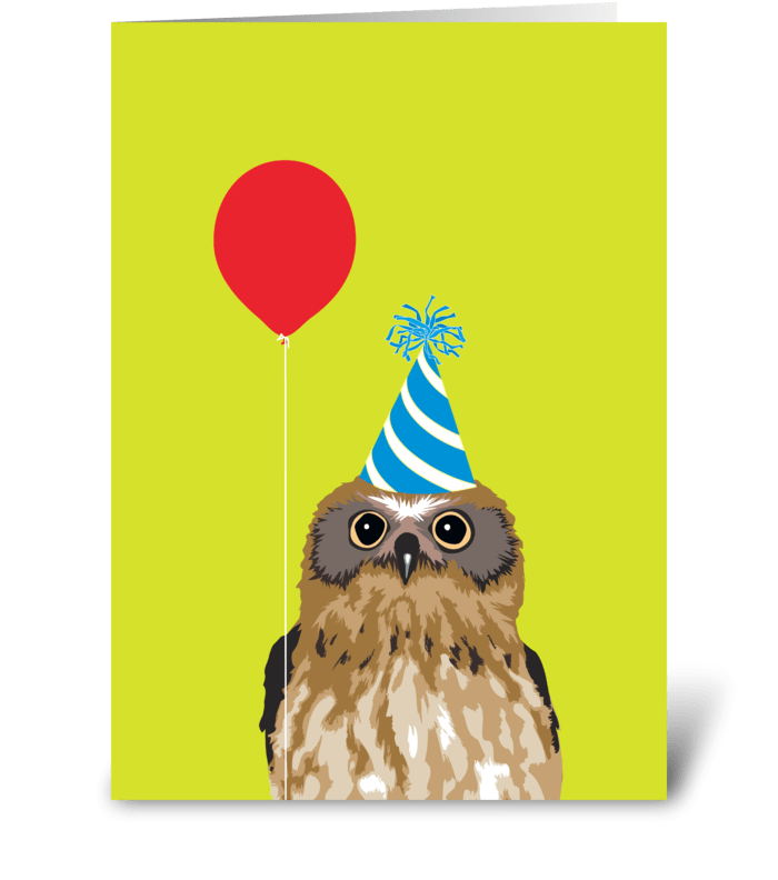 Birthday Owl greeting card