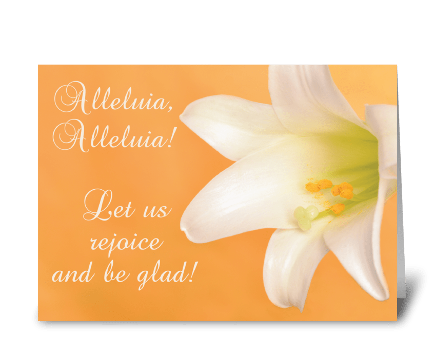 Easter Joy and Blessings Alleluia Lily greeting card