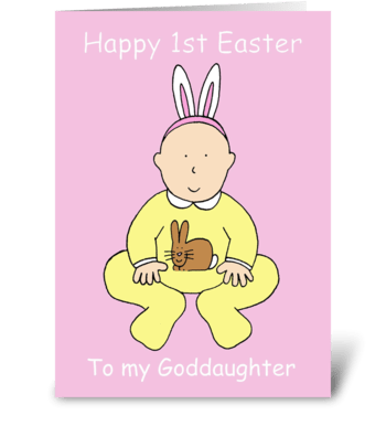 Happy First Easter to Goddaughter greeting card