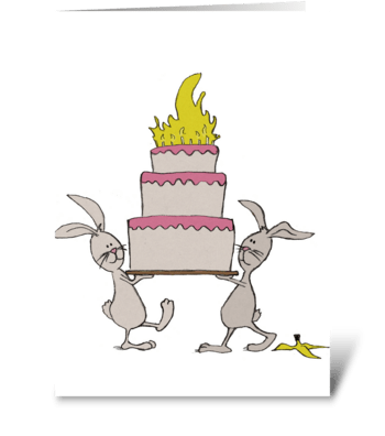 Happy Birthday Rabbits greeting card