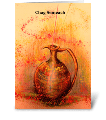 Chanukah oil greeting card