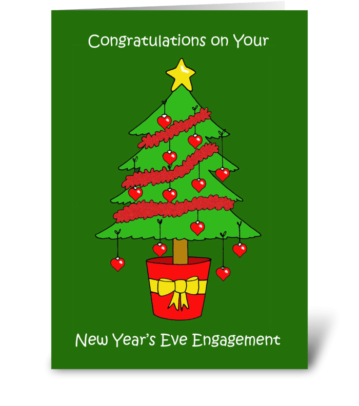 New Year's Eve Engagement. greeting card