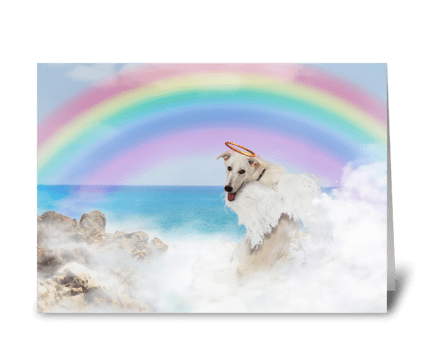 Loss of A Sweet Pet Angel greeting card
