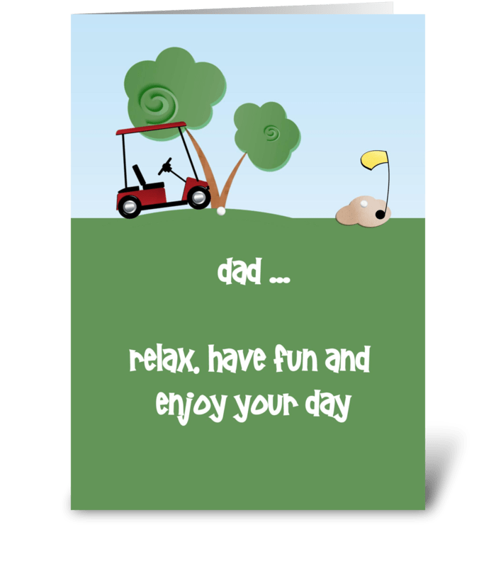 Father's Day, Golf greeting card