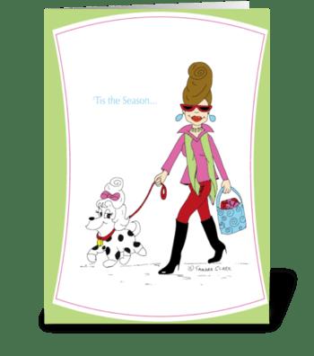 Holiday Holly greeting card