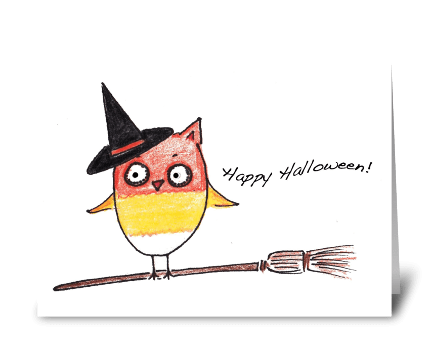 Halloween Hoot greeting card