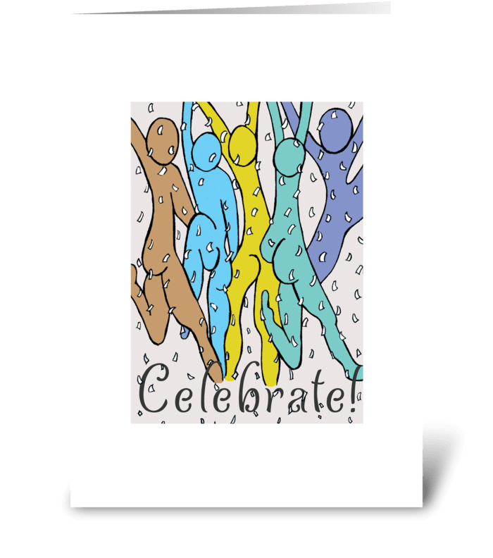 CELEBRATE! greeting card