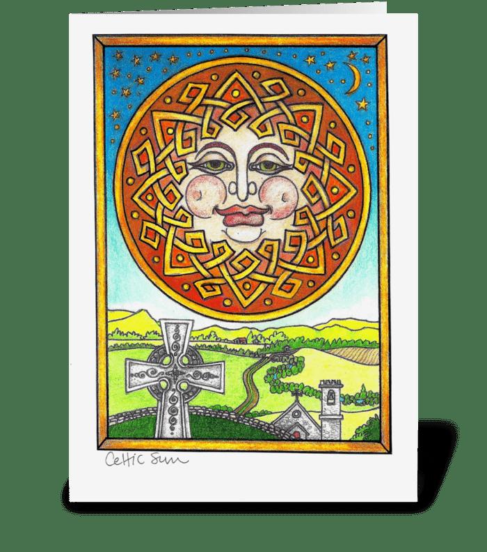 Celtic Sun greeting card