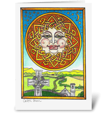 Celtic Sun greeting card