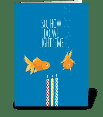 Goldfish greeting card
