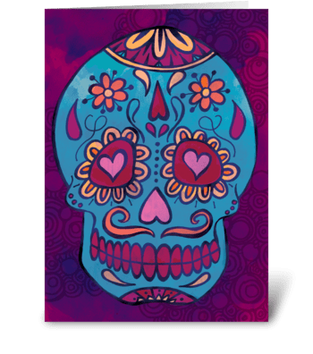 Calavera greeting card