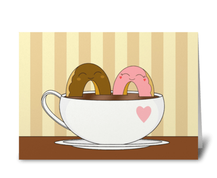 Coffee & Donuts greeting card