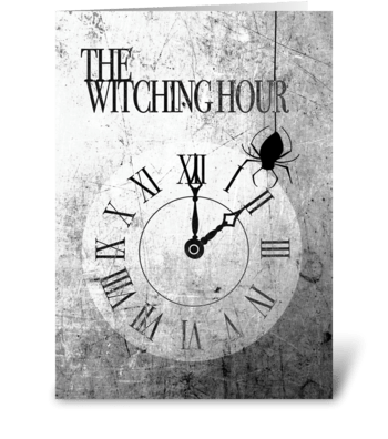 Witching Hour Halloween Card greeting card