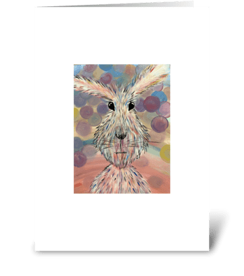 Fluffy Bunny greeting card