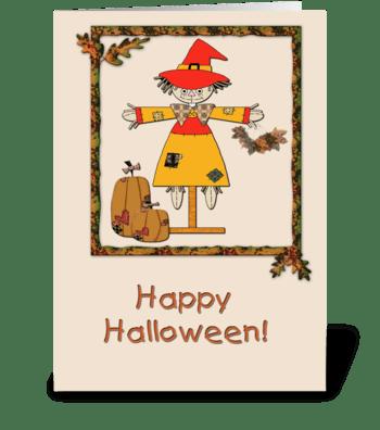 Halloween Scarecrow  greeting card