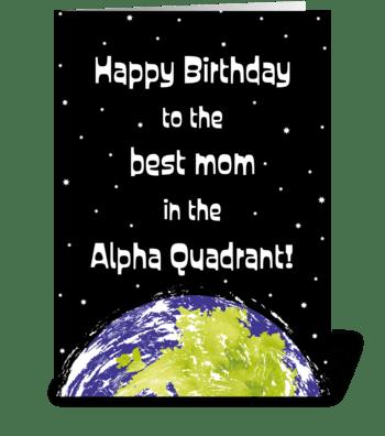 Star Trek Birthday Card Mom greeting card