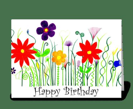 Bright & Beautiful  greeting card