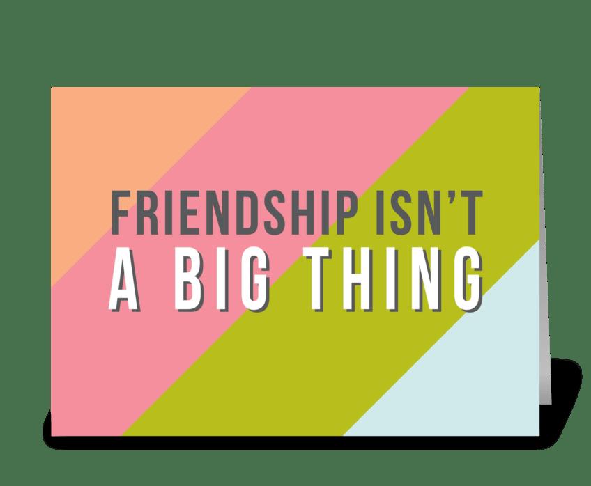 BIG THING greeting card
