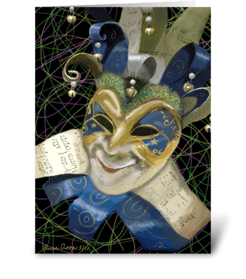 Mardi Gras Mask greeting card