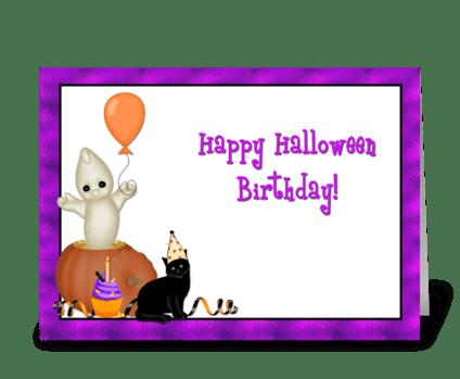 Halloween Birthday  greeting card
