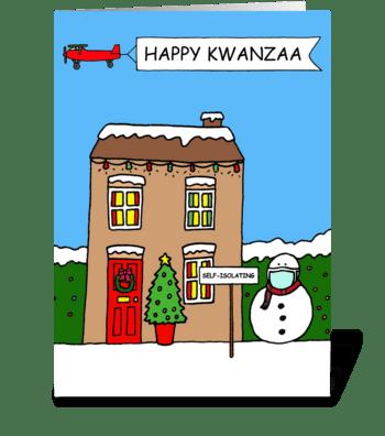 Covid 19 Kwanzaa Cartoon Humor greeting card
