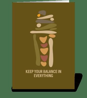 Balancing Stone greeting card