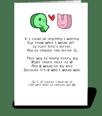 Q+U greeting card