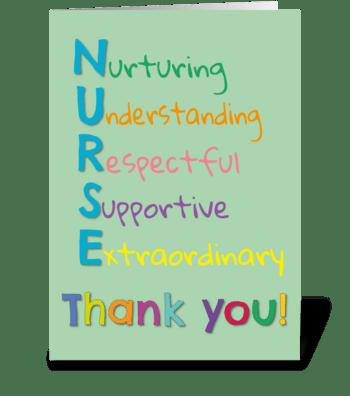 129 Thank You Nurse greeting card