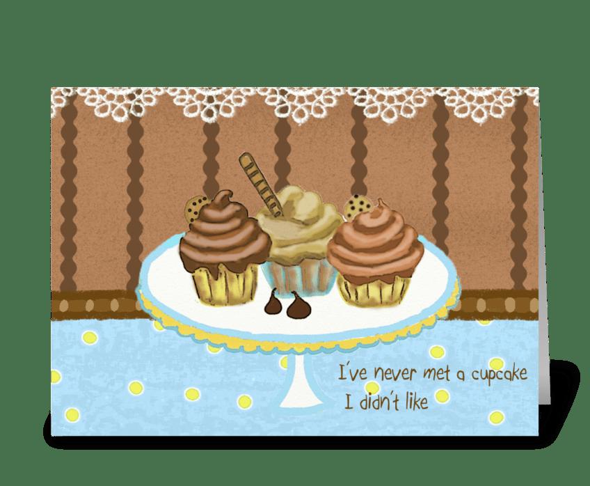 Cupcakes Card greeting card