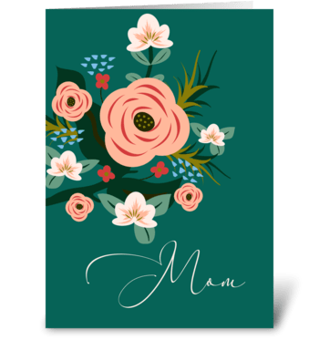 Roses for Mom greeting card
