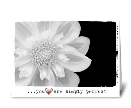 you are simply perfect  greeting card