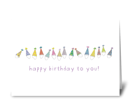 party hats greeting card