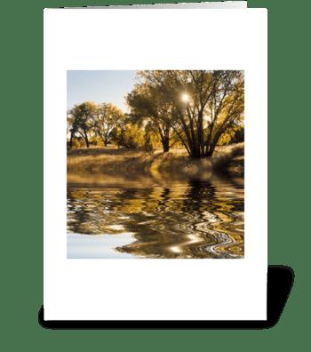 Sunburst Reflection greeting card
