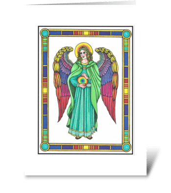 GUARDIAN ANGEL OF THE NONCONFORMISTS greeting card