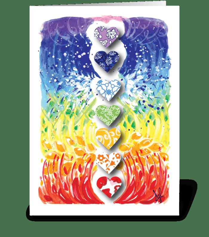 Anniversary Hearts greeting card