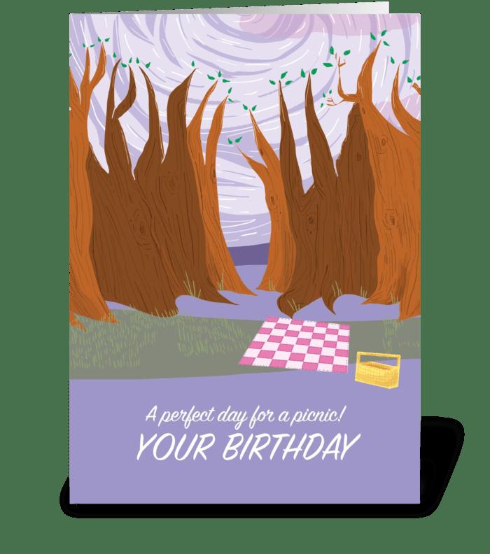 Picnic Birthday Card greeting card