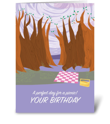 Picnic Birthday Card greeting card