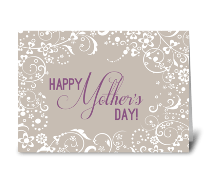 Mother's Day Flourish greeting card