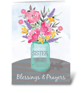 Sister Religious Nun Get Well Blessings  greeting card