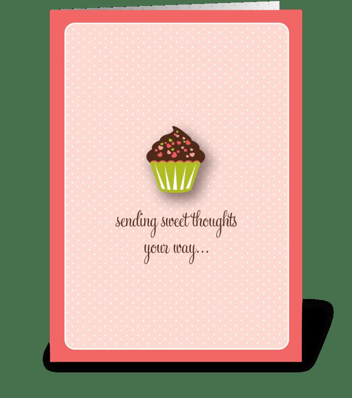 Sweet Cupcake greeting card