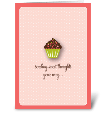 Sweet Cupcake greeting card