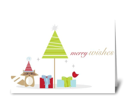Merry Wishes greeting card