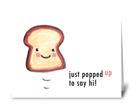 Toasty Hello greeting card