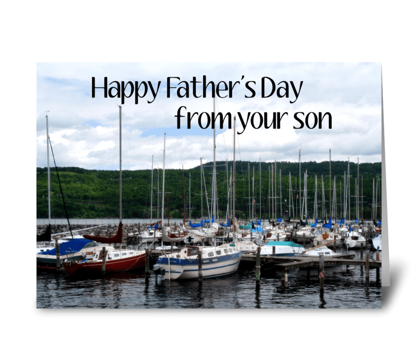 Father's Day Marina greeting card