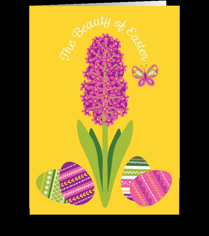 Easter Hyacinth greeting card
